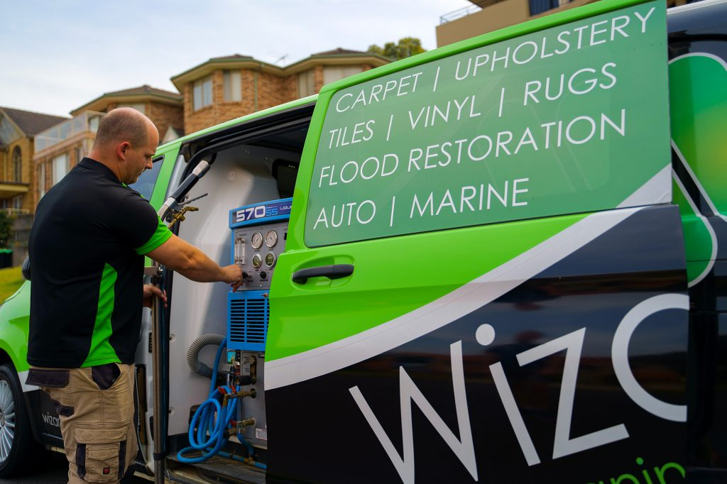 Wizard Carpet Cleaning Van with Commercial Grade Cleaning Equipment