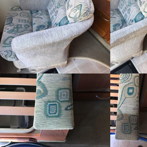 Fabric and Upholstery Cleaning Before and After